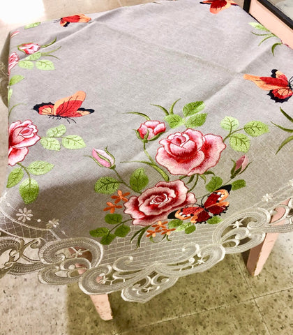 Rose and Butterfly Table Topper