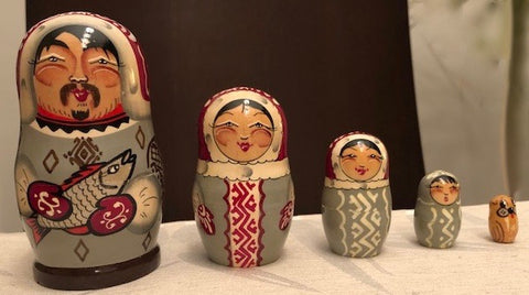 Male Native Nesting Dolls - set of 5