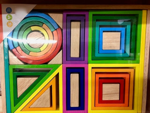 Rainbow Building Blocks Set