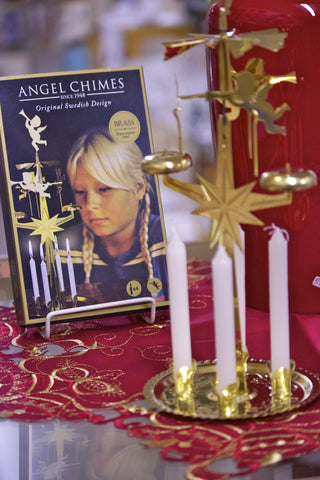 Festive Angel Chimes Brass