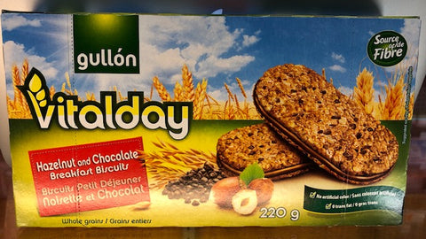Vitalday Hazelnut and Chocolate Breakfast Biscuits