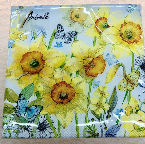 Daffodil Flower Cocktail Napkins
