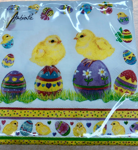 Easter Chick Lunch Napkins