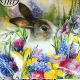 Bunny and Flower Lunch Napkins