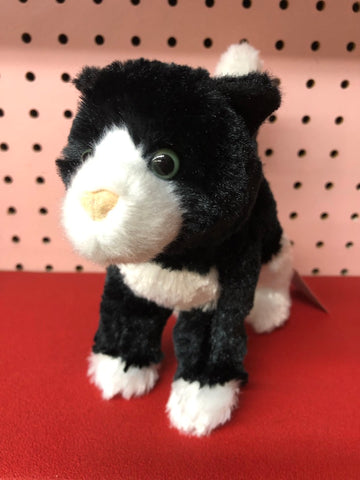 Plush Black and White Kitten