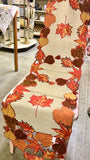 Autumn Leaves Table Runner Long