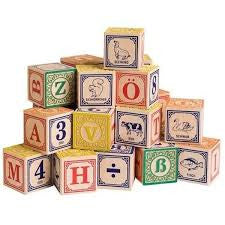 German Language Wooden Blocks