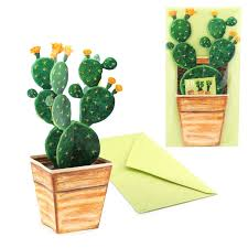 3D Cactus Card All Occasion