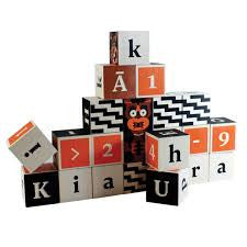 Maori Language Wooden Blocks