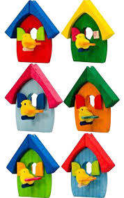 Wooden Bird House Ornament