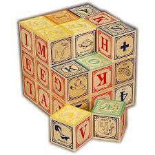 Danish Language Wooden Blocks