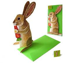 3D Animal Card - Rabbit with Carrot