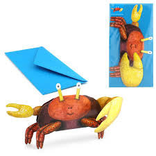 3D Animal Card - Crab