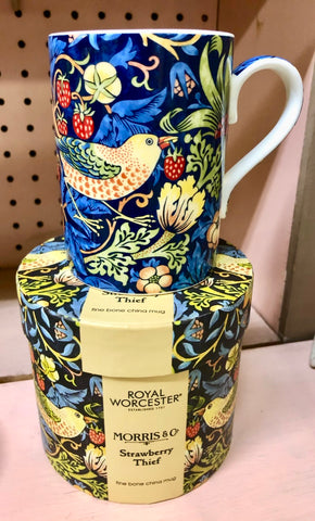 William Morris Blue Strawberry Thief Mug