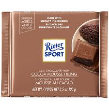 Ritter Sport Cocoa Mousse Milk Chocolate Bar
