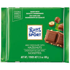 Ritter Milk Chocolate with Hazelnuts Bar