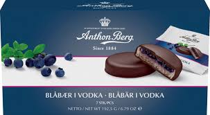 Marzipan with Vodka Blueberries