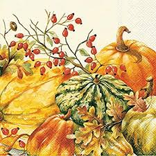 Pumpkin Harvest Lunch Napkins