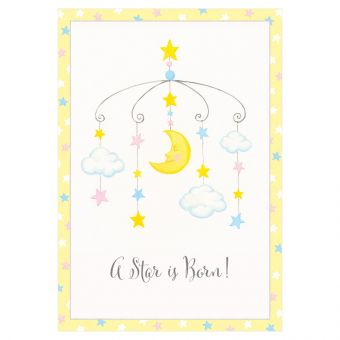 New Baby Card - A Star is Born!