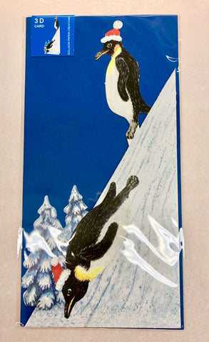 3D Holiday Penguin Card