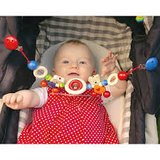Heimess Stroller Chain - Natural Lady Bug