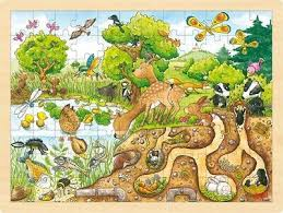 Goki Animals Above and Below 48 piece Wood Puzzle