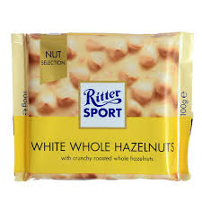 Ritter Sport White Chocolate Whole Hazelnut Bar