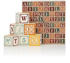 Italian Language Wooden Blocks