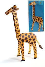 3D Animal Card - Giraffe