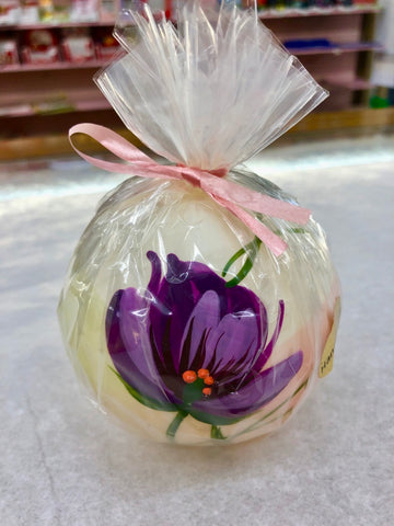 Jakelis Purple Flower Ball Candle