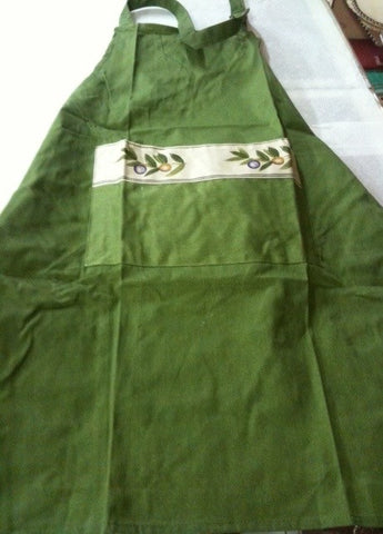 Olive Apron with pocket