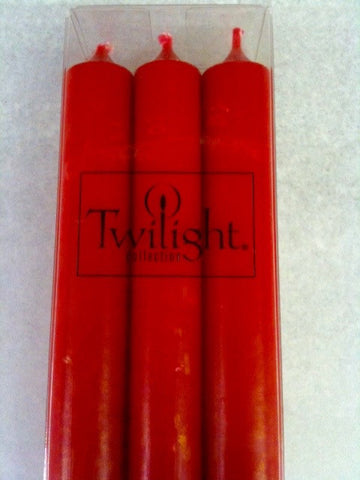 Twilight Dinner Candles - Red