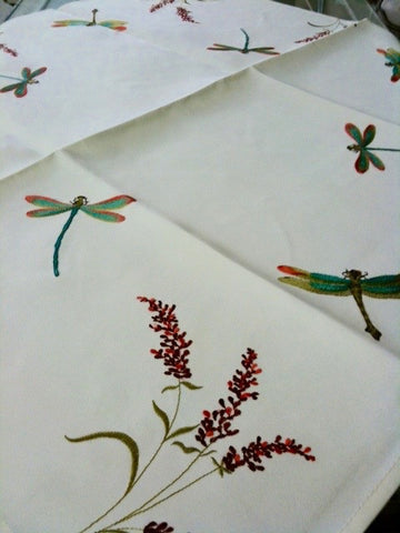 "Dragonfly Tablecloth 36""x36"""
