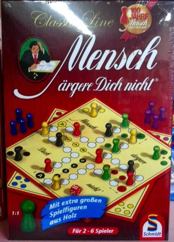 "Mensch Argere Dich Nicht!  The classic German Game of ""Sorry!"""