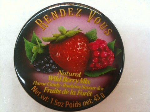 French Natural Wild Berry Candies