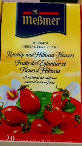 Messmer Rosehip and Hibiscus Flower tea
