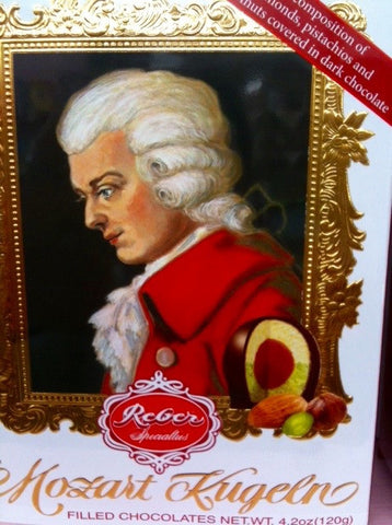 Mozart Kugeln - Dark Chocolate, Marzipan, Nougat and Pistachio