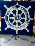 Ship Wheel Decorative Pillow