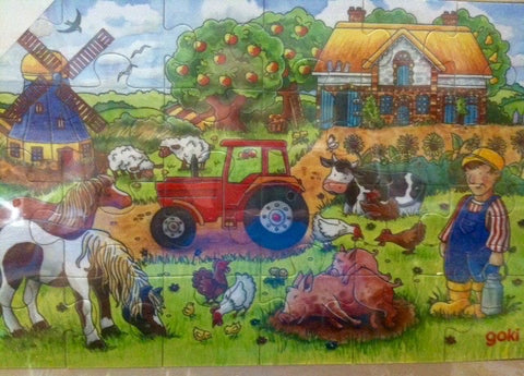 Goki Farm 24 piece Wood Puzzle