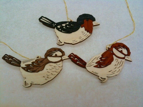 Wooden Birds Hang-ons