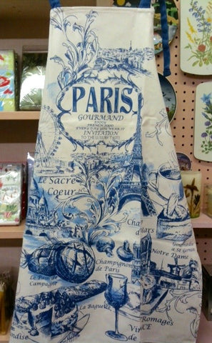 Blue Paris Apron