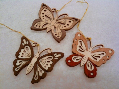 Wooden Butterfly Hang-ons