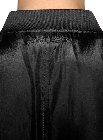 Prep Bomber Jacket - Black