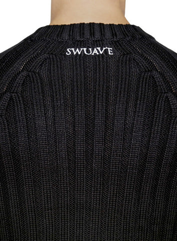 Ribbed Cable Knit - Black