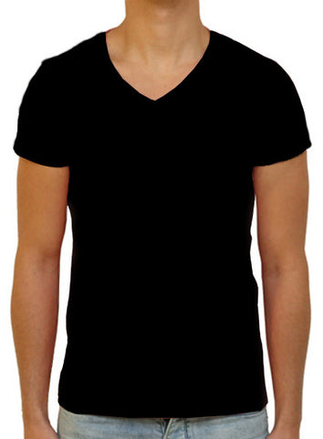 Slim V T-Shirt - Black