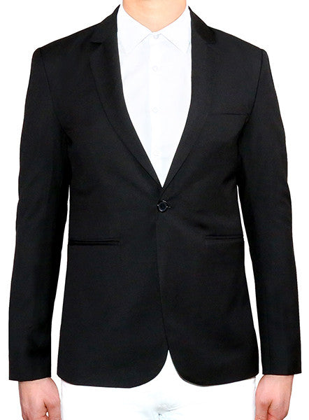 Modern Tailored Blazer - Black