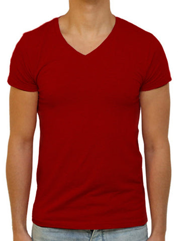 Slim V T-Shirt - Burgundy