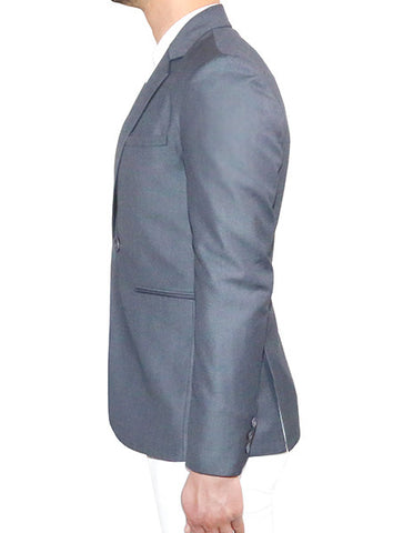 Modern Tailored Blazer - Charcoal