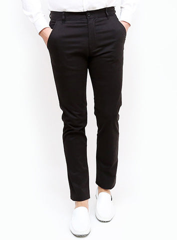 Slim Tapered Chino - Black