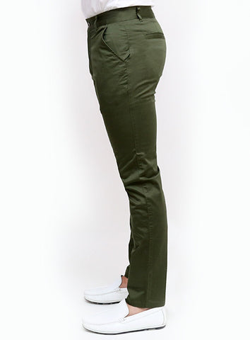 Slim Tapered Chino - Military Green